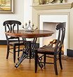 Amish Iron Pedestal Round Dining Table
