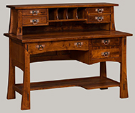 Amish Modesto Mission Open Desk with Optional Topper