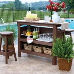 Outdoor Bar Table And Chairs Amish Ohio Berlin Gardens Set With Backless Stools From