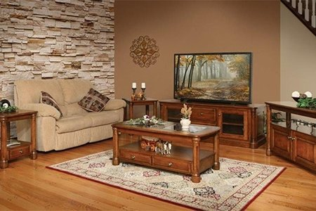 cherry furniture living room beach inspired ideas wood in the buckingham set