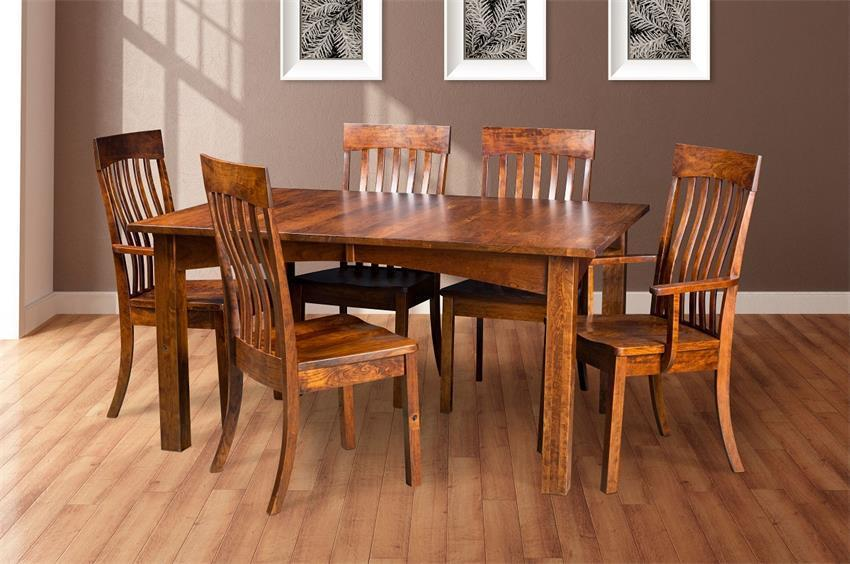 Shop The Look Amish Solid Wood Madison Dining Set