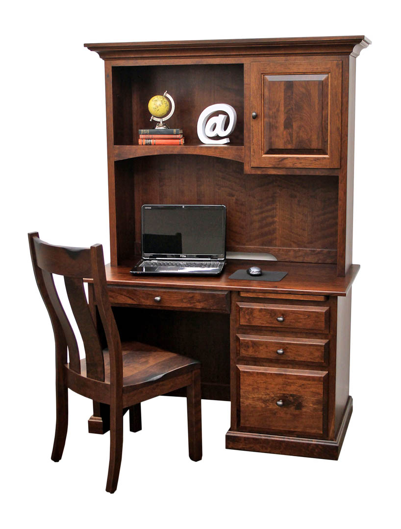 Traditional Student Desk with Hutch Top  Dutch Craft