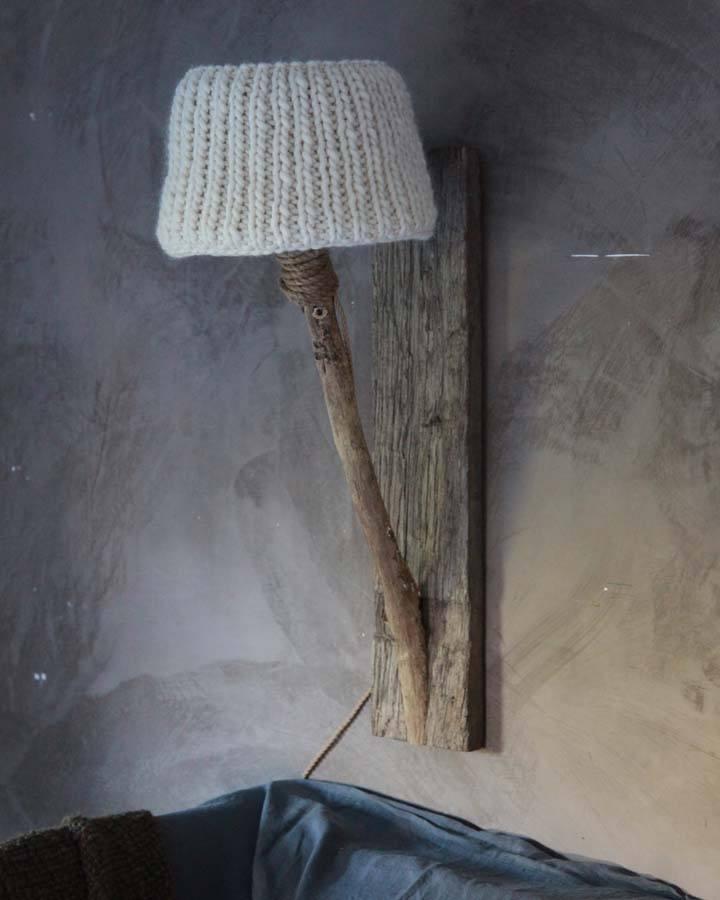 Houten wandlamp landelijke stijl  Dutch Dilight