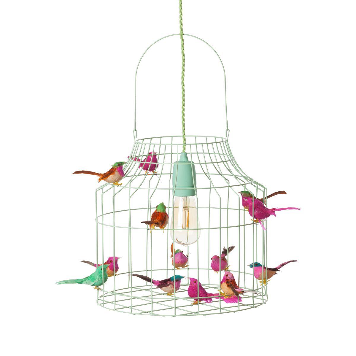 hanglamp vogeltjes mint mixed  Dutch Dilight