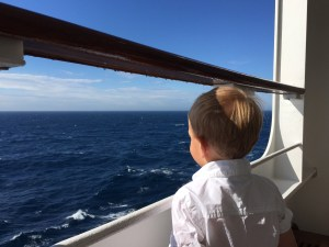 H could spend hours just looking out at the Atlantic.