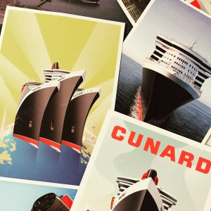 QM2! The most expensive post cards to date but some of our favorite.