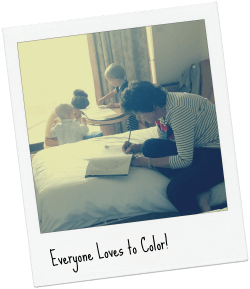 Coloring is fun for the whole family.