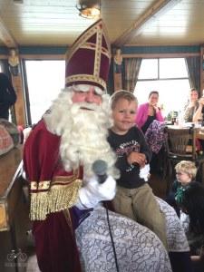 Sinterklauss on Pancake Boat