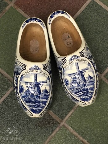 Delft Blue Wooden Shoes