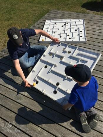 Maze fun at the Romo Playground