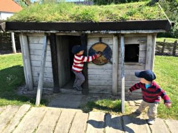 Viking Village Playground Houses