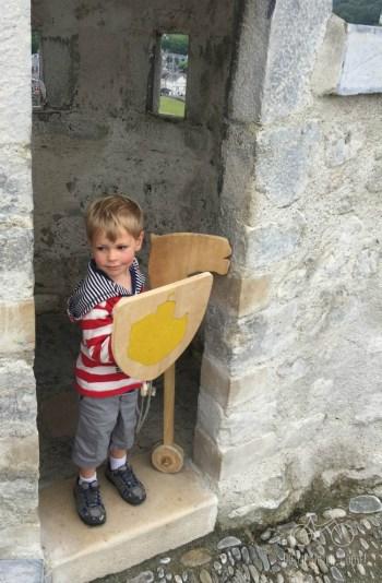 Lourdes Castle Wooden Shield