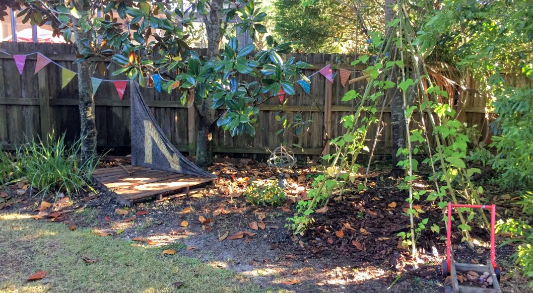 our backyard play space
