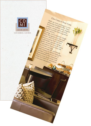 brochure outside and opening flap