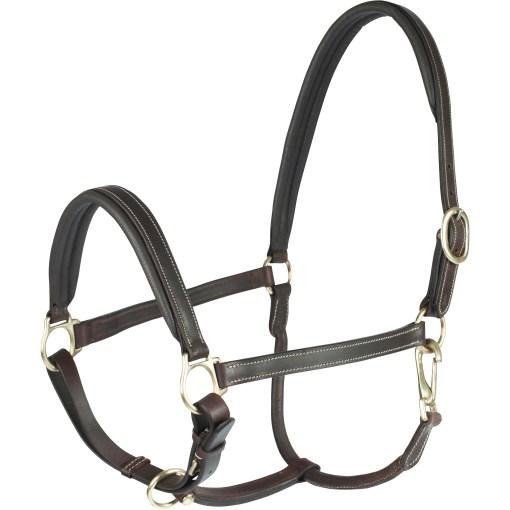 Horze Largo Leather halter dark brown