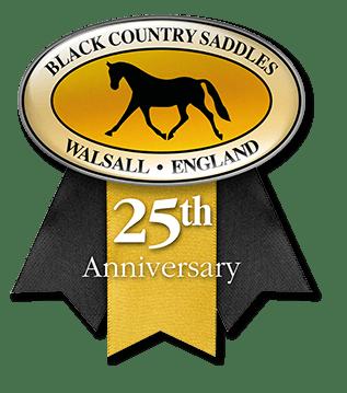 Black Country Saddles 25th anniversary logo