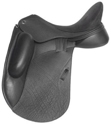 Veritas Novus dressage saddle black buffalo leather