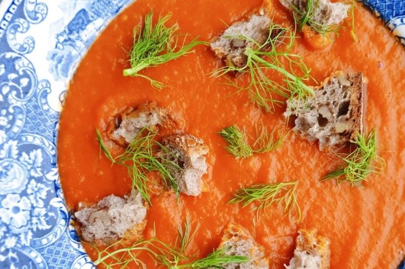 vegan healthy tomato fennel soup recipe