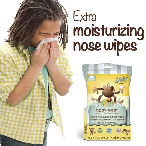 noz-eez wipes banana scent kid sneezing