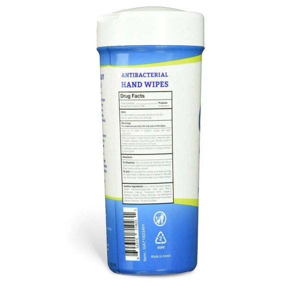 Germ-Away Antibacterial Hand Wipes Drug Facts