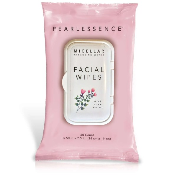 Pearlessence Miceller Rose Water Makeup Remover Wipes for Face