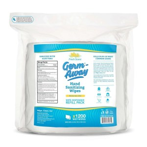 germ-away 1200 wipe count single refill pouch for dispensers