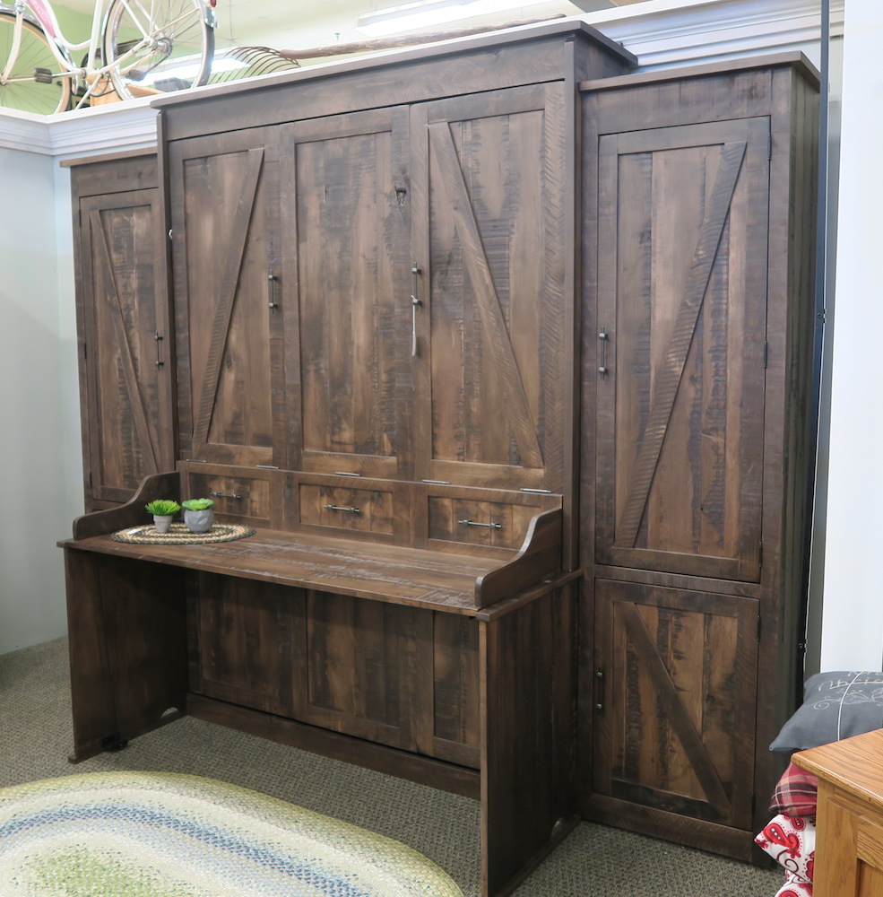 Rustic Desk Murphy Bed  Dutch Haus Custom Furniture