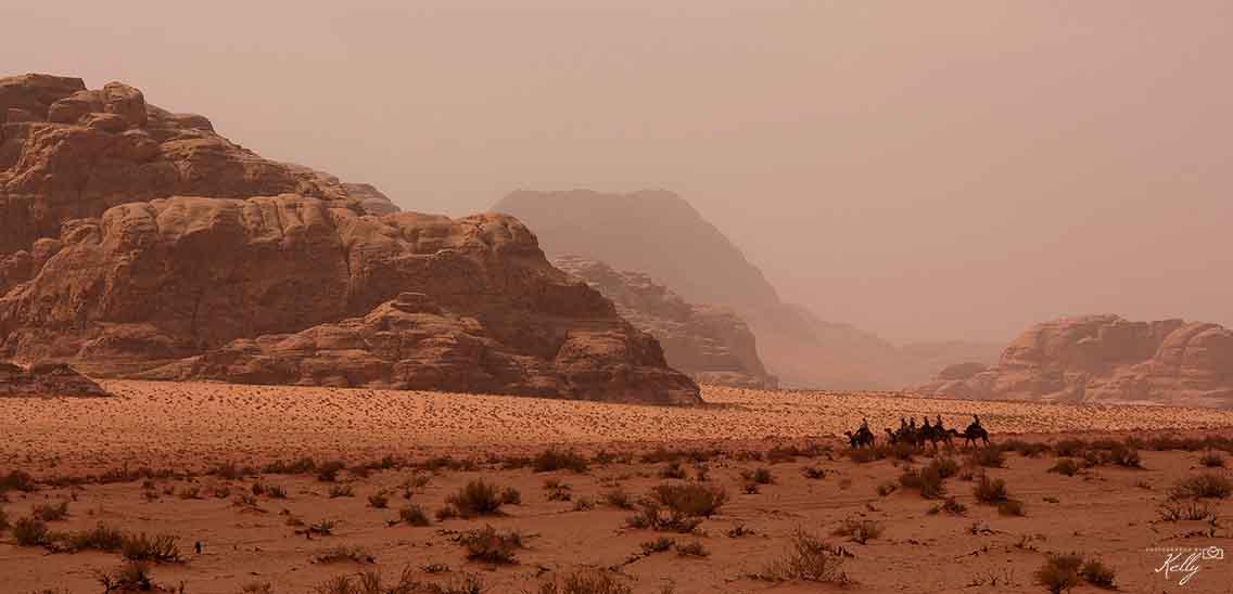 Reisroute Jordanië