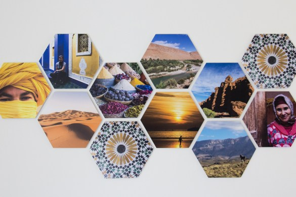 Hexagon collage