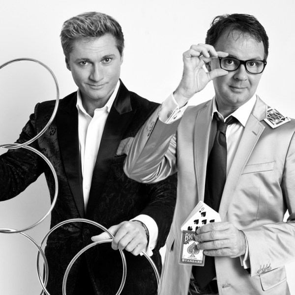 duo-act Magic van goochelaar Ronald MOray en goochelaar Peter Vogel
