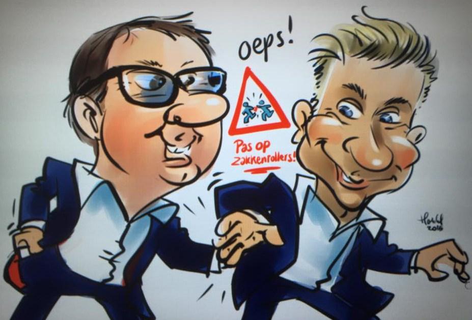 pas op voor zakkenrollers Ronald Moray & Peter Vogel