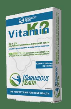 Vitamine K2/D3 (200mcg/50mcg) MK-7
