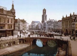 Mooiste grachten van Nederland zijn te vinden in Utrecht, De Bakkerbrug rond 1900