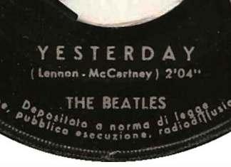 Meest gecoverde nummer is Yesterday van The Beatles