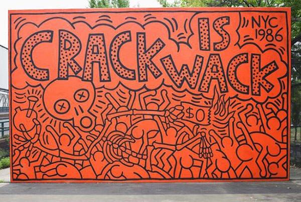 Keith Haring - Crack is Wack (1986)