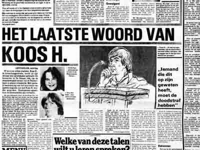 Seriemoordenaar Koos H. - Bron: De Telegraaf 2 januari 1982
