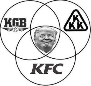 Doanld Trump - KGB, KKK en KFC