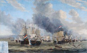 Reinier Nooms -De zeeslag bij Livorno. 1653 of later
