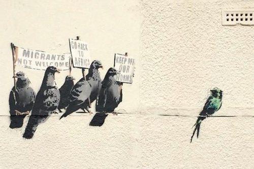 Banksy - Migrant Birds - 2014