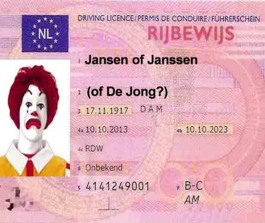 Top 100 meest voorkomende achternamen in Nederland