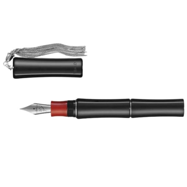 Tibaldi_Bamboo_Black Fountain Pen