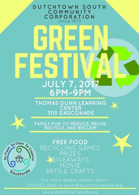 DSCC Green Festival flyer