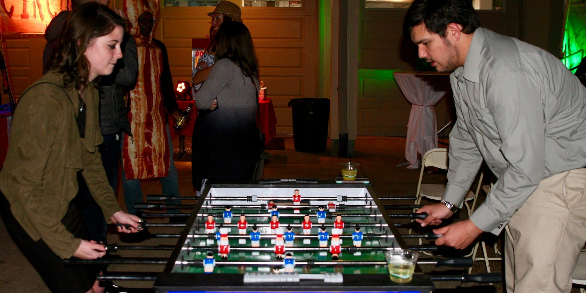 Arsenal vs. Manchester United Foosball table from Arcades Market.