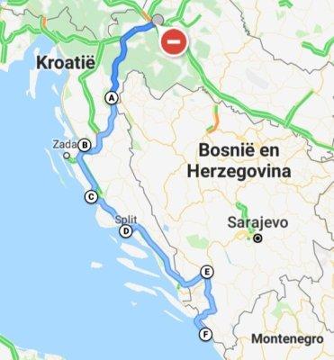 Roatrip Kroatië Bosnië route