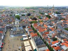 Dagje Delft - uitzicht vanaf de Nieuwe Kerk Delft