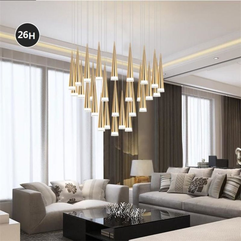 living room bar black and gray ideas dutti d0032 led chandelier modern minimalist nordic front desk dining cafe