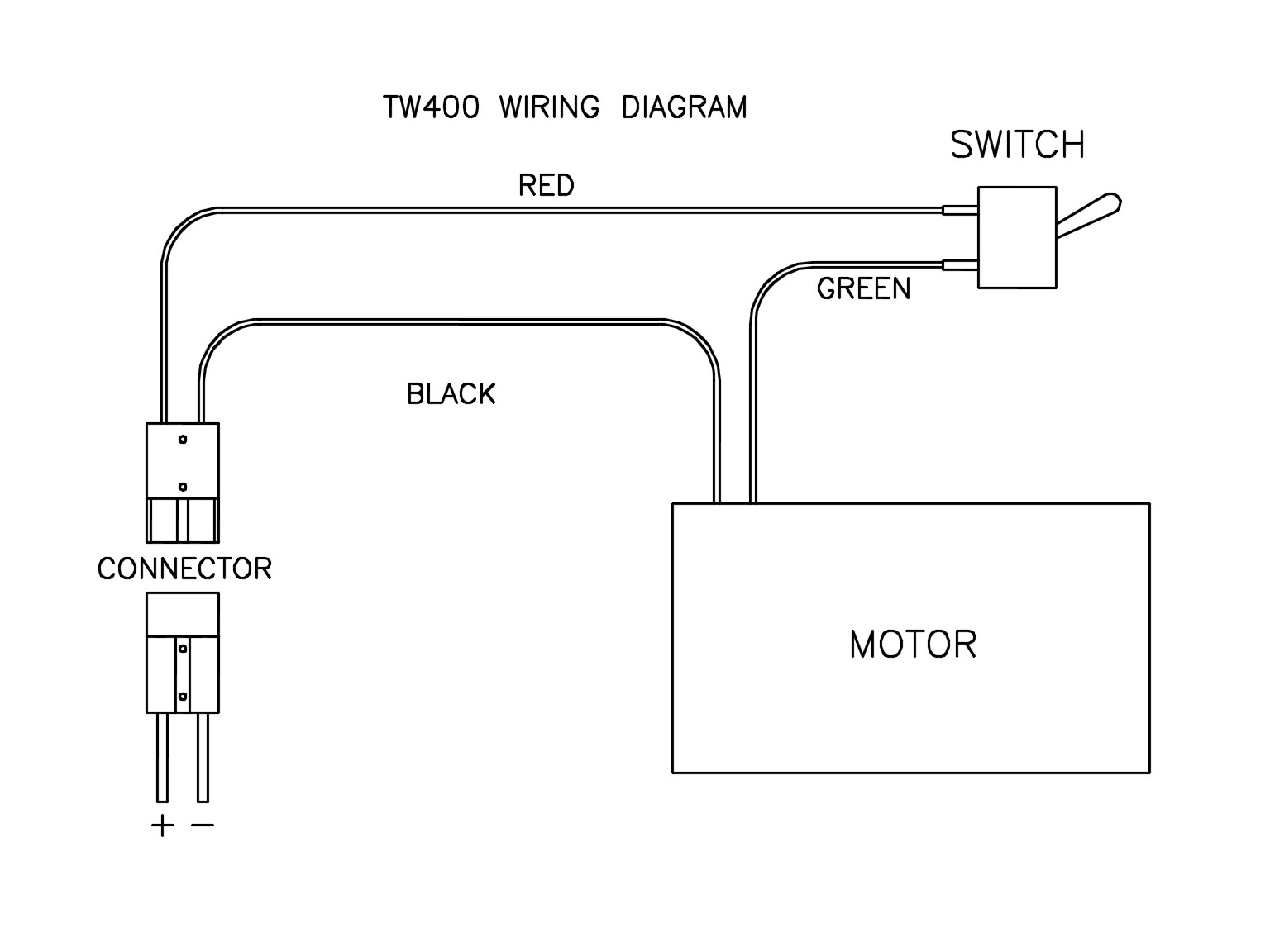 hight resolution of  be sure the positive harness wire is connected to the positive battery terminal and that the rest of the wiring is exactly as shown in the diagram