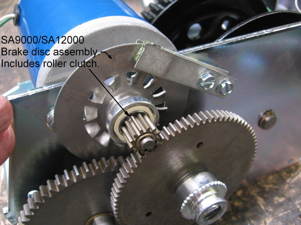 medium resolution of if the brake disc spins while the winch is pulling in a load it needs to be replaced order brake disc number 304407 for sa5000 sa7000 models or number