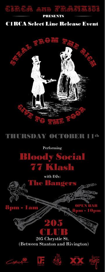 Flyer for 77Klash Frank151 party