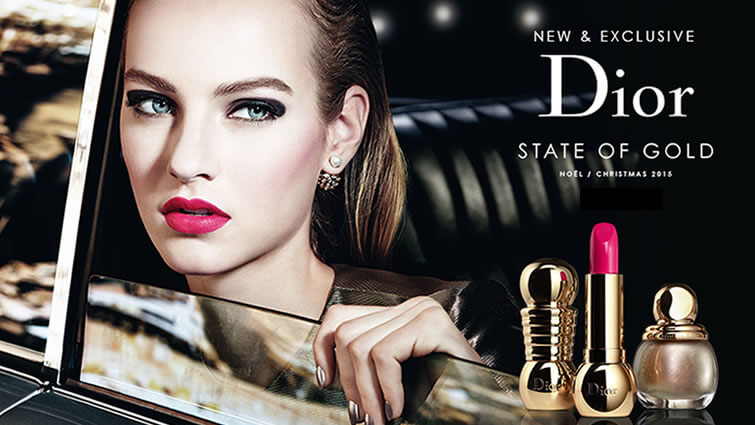 Dior Declares A State Of Gold For Christmas Duty Free